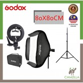 GODOX 80 x 80cm Easy Fold Seepdlite Softbox With S Type Bracket + 2meter light stand  (Ship from Malaysia)